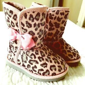 Other - ⚡New Listing! Pink Leopard Snow Boots