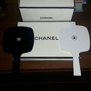 CHANEL Other - Chanel Black or White Handheld Mirror
