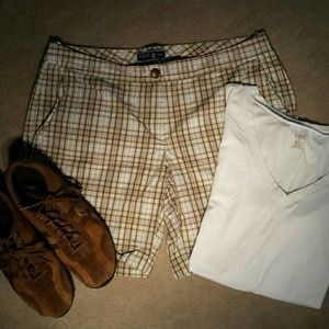 Izod Pants - Izod Brown Plaid Shorts