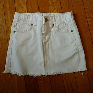 Old Navy Other - White distressed jean skirt