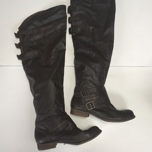 Blowfish Shoes - ‼️SALE‼️Blowfish tall synthetic dark brown boots