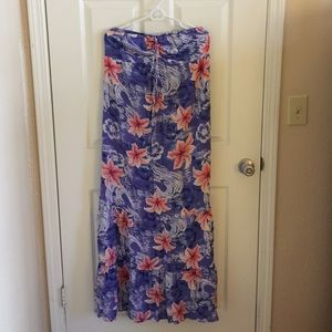 Mossimo XL Purple Hawaiian Maxi Dress