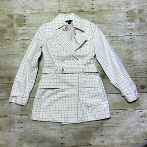 Express Plaid Trench Coat!