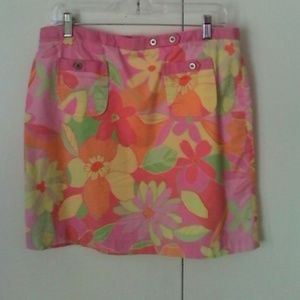 Sigrid Olsen Dresses & Skirts - Sigrid Olsen Floral Mini Skirt 10 Cotton Stretch