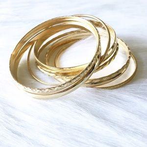 gold tone bangle set