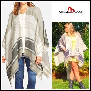 Nordstrom Sweaters - ❗️1-HOUR SALE❗️Blanket Cape Scarf Wrap Poncho