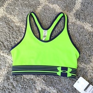 Under Armour Other - NWT Under Armour neon green/blue mid-impact bra