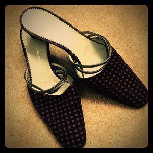 Sigerson Morrison Shoes - Sigerson Morrison Velvet and Leather Mules