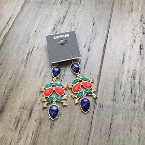 Express Colorful Chandelier Earrings