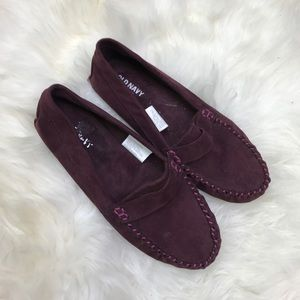 Old Navy Shoes - Old Navy Purple Suede Loafer Flats