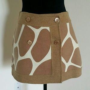 RED Valentino Dresses & Skirts - HP - RED Valentino Tan Cream Wool Animal Giraffe