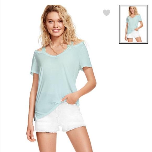 7560f536edb833 PINK new Cold shoulder super soft tee. NWT. PINK Victoria s Secret
