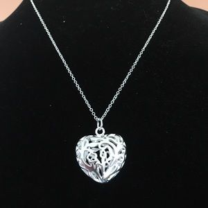 Heart Silver Plated Necklace.