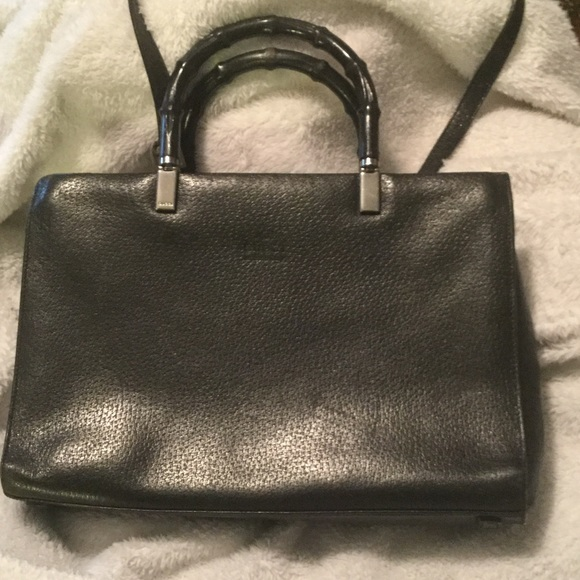2e07c4bcc Gucci Bags | Bamboo Handle Purse Black | Poshmark
