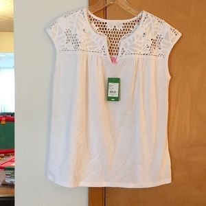 Lilly Pulitzer white Avery top