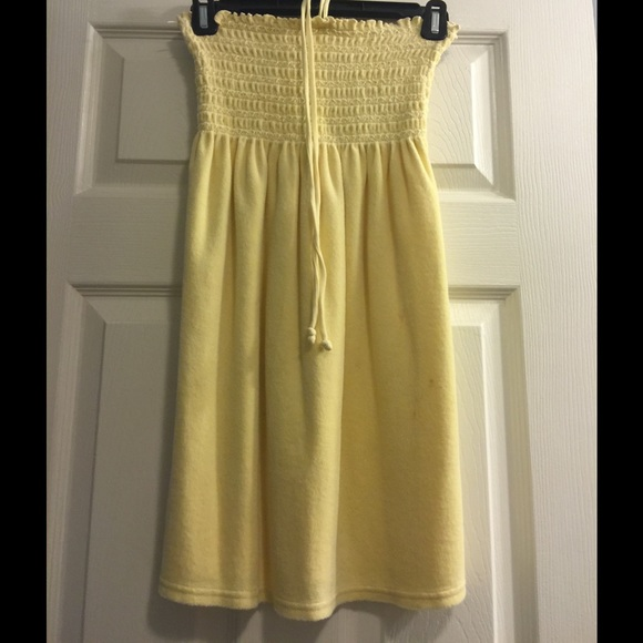 23f093830f8 Juicy Couture Terry Cloth Smocked Tube Dress