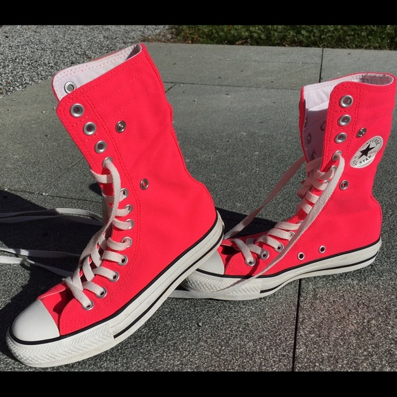 10e59555c9b Converse Shoes - Pink converse tall high tops. Size 3   5.