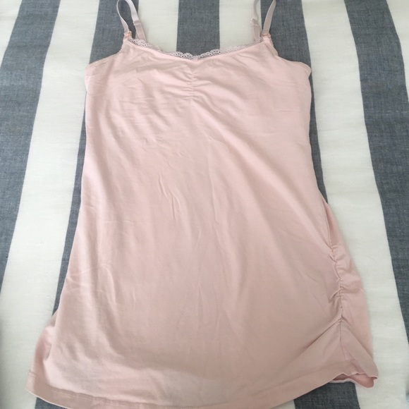 Motherhood Tops - Pink Nursing Tank