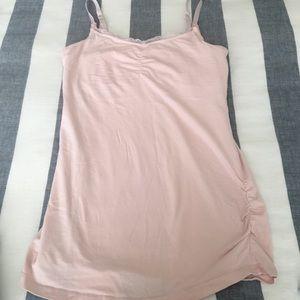Motherhood Tops - Pink Nursing Tank