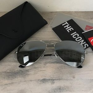 Ray-Ban Accessories - 100% AUTHENTIC SILVER RAY BAN AVIATORS