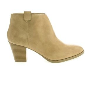 Zenith Shoes - Booties. Nude color. 8 1/2. NWT. Stack heel 2 3/4""