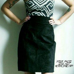Adler Dresses & Skirts - ADLER Vintage Suede Leather Skirt