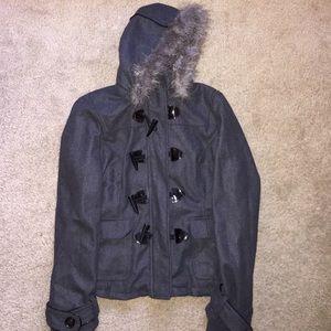 Full Tilt Jackets & Blazers - XL Full Tilt Coat with Fur Around the Hood