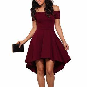 Dresses & Skirts - Flirty Off Shoulder High Low Dress