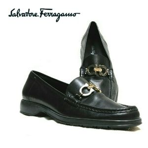 Salvatore Ferragamo Shoes - SALVATORE FERRAGAMO BROWN LEATHER HORSEBIT  LOAFER