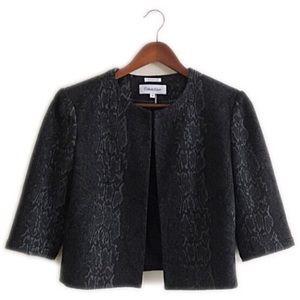 Calvin Klein Jackets & Blazers - Calvin Klein black print coat