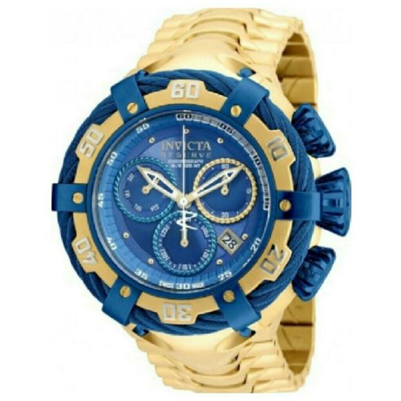 141e9cc72d6 Invicta Accessories | Nwt Reserve 3500 Gold Blue Men Watch | Poshmark
