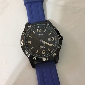Timex Accessories - Timex men's watch with blue watch band