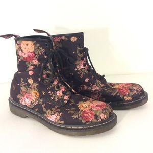 Dr. Martens Shoes - DR MARTENS Victorian floral lace up BOOTS  11 doc