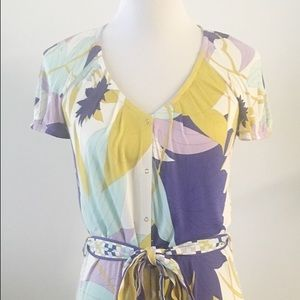 Vintage Emilio Pucci belted button up dress