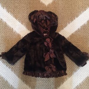 Faux Fur Baby girl coat