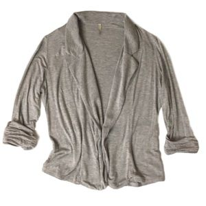 Olivia Moon Tops - OLIVIA MOON rayon jersey slouchy blazer Cardigan