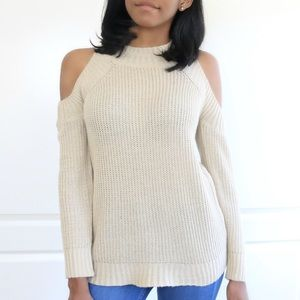 Seraphina Rose Sweaters - RESTOCKED- Cold Shoulder Crew Neck Sweater