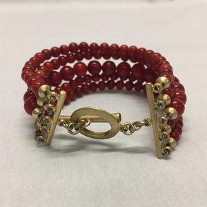 Jewelry - Red Beaded Bracelet