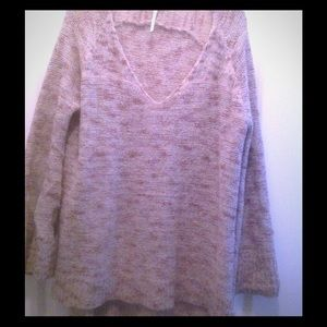 Free people cozy sweater  beige wool medium