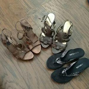 Bebe Au Lait Shoes - Bundle sale Sandle Heels Sz's 5 & 5.5