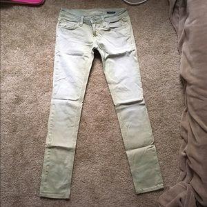 Anoname Denim - WILL DONATE ON JUNE 1st! Pastel Green Skinny Jeans