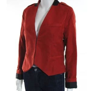 Line & Dot Jackets & Blazers - LINE & DOT red and black blazer size L NWT