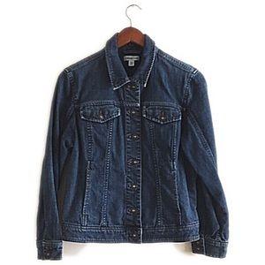 Coldwater Creek Jackets & Blazers - Coldwater Creek blue button jean jacket size p14.