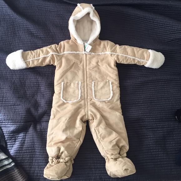 7685bd100 First Impressions Jackets & Coats | Flow Onesie Snowsuit Fur Baby ...