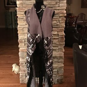 Romeo & Juliet Couture Sweaters - New fringe vest