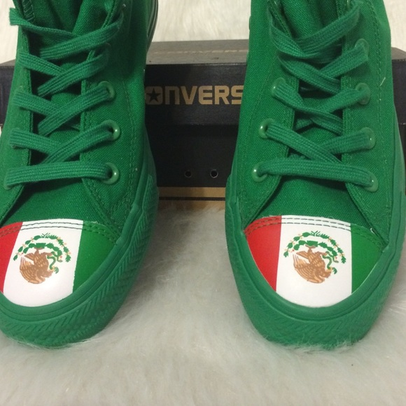81% off Converse Shoes - Converse size 8 Mexican flag toe Chuck ...