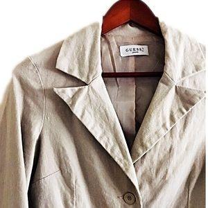 Guess Jackets & Blazers - Guess tan button up blazer