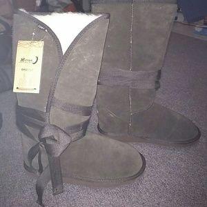 Emu Shoes - Emu tall dark brown boots