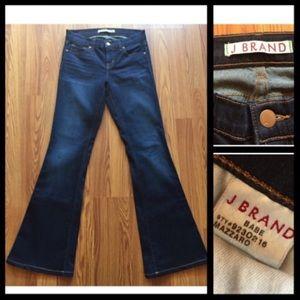 J Brand Stretch Flare Leg Dark Wash Jean Size 26