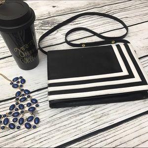 Valentino Garavani Handbags - VALENTINO Black White Stripe Crossbody Bag